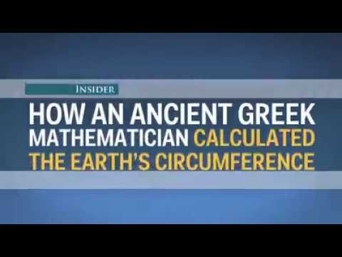 How an ancient greek mathematician calculated the earth's circumference