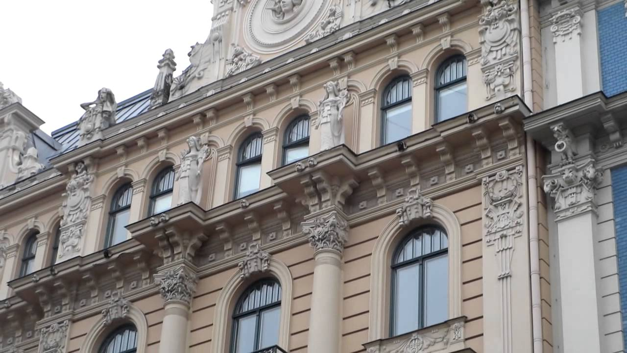 riga art nouveau buildings latvia youtube