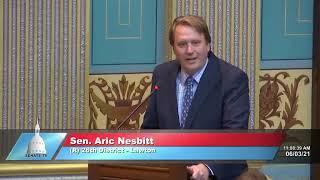 Sen. Nesbitt addresses the Senate on expanding internet access