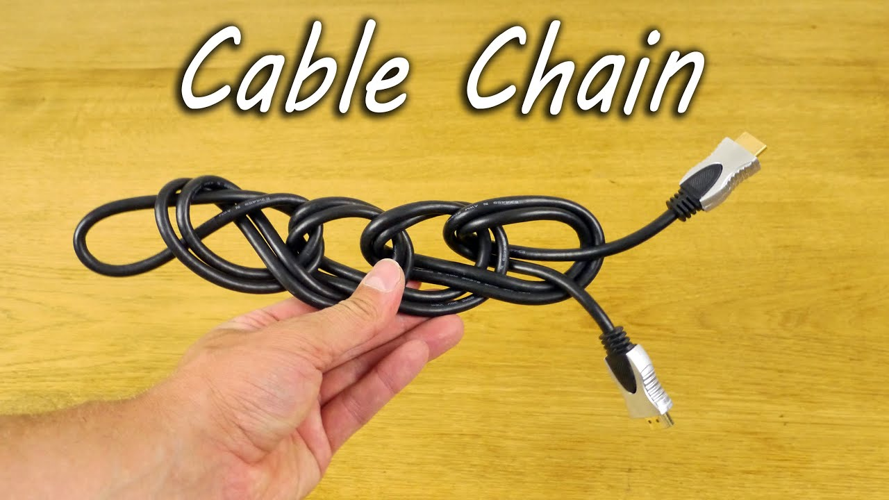 what to do with messy cables life hack youtube