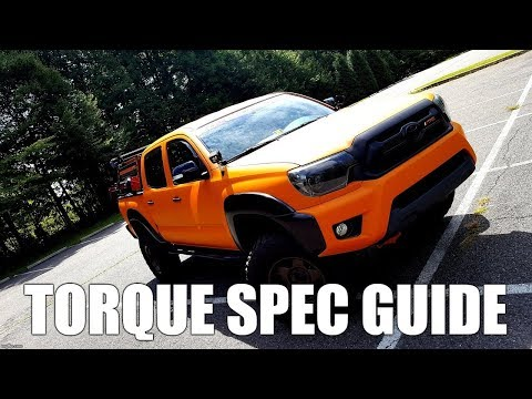 All the Torque Specs You Need to Start Working on Your Tacoma