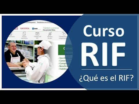 ¿Qué es el RIF? Régimen de Incorporación Fiscal