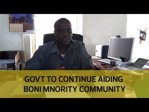 Government to continue aiding Boni minority community