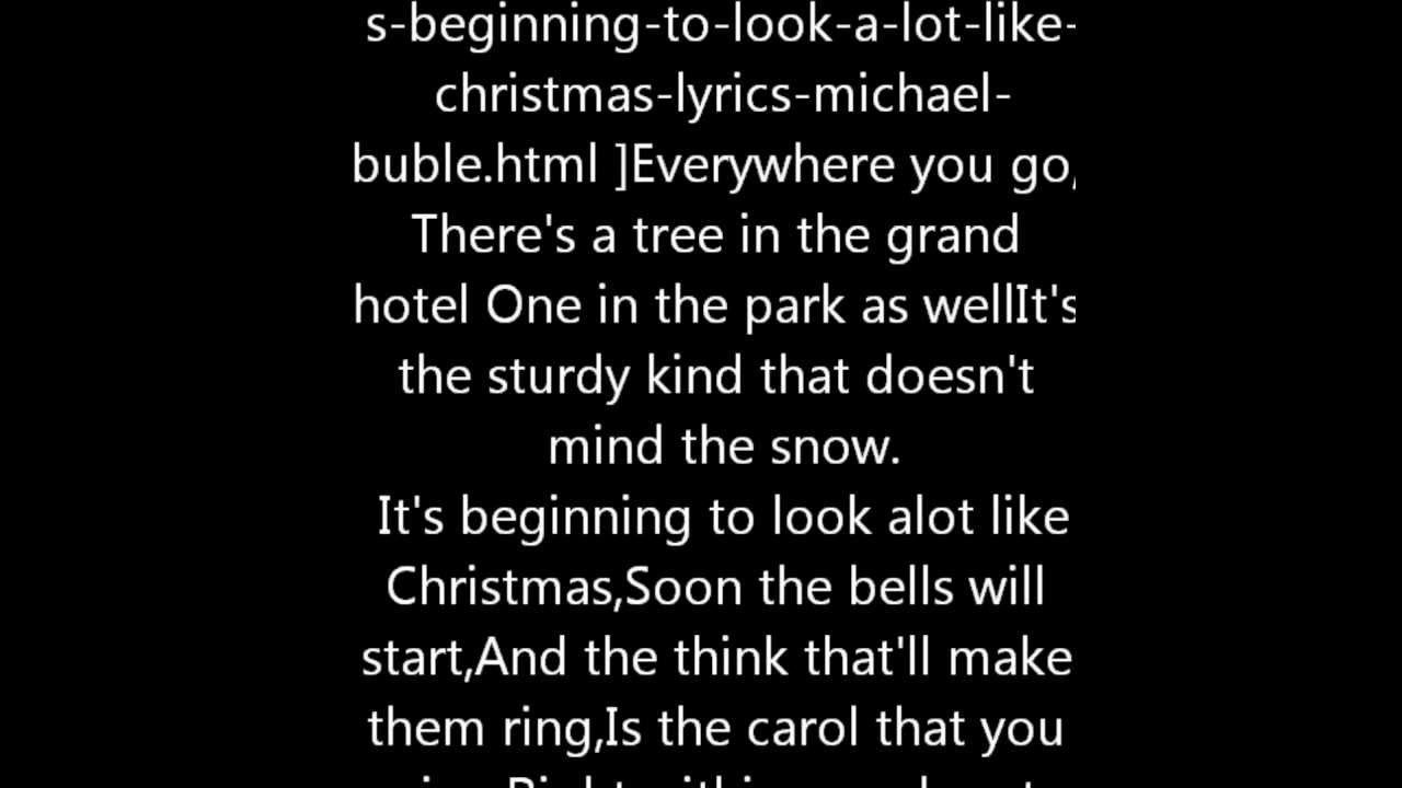 Michael Buble Its Beginning To Look Alot Like Christmas With ...