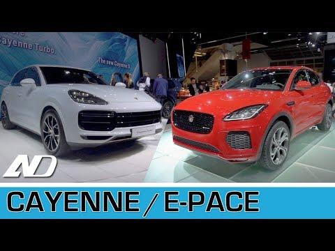 porsche cayenne 2019 y jaguar e pace frankfurt auto show. Black Bedroom Furniture Sets. Home Design Ideas