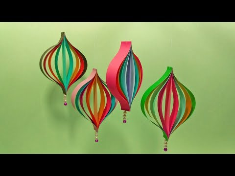 How To Make 3D Paper Heart Wall Hanging | Wall Hanging Christmas Decorations