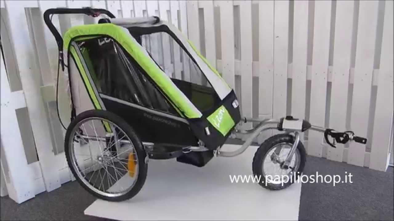 Rimorchio da bicicletta per il trasporto dei bimbi mod. LEON - YouTube