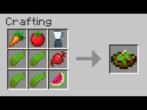 Minecraft But You Can Craft Every Type Of Real Food