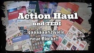 Action Haul (deutsch) und Tedi Haul, gaaaaanz viele neu Blöcke, Scrapbook basteln mit Papier, DIY