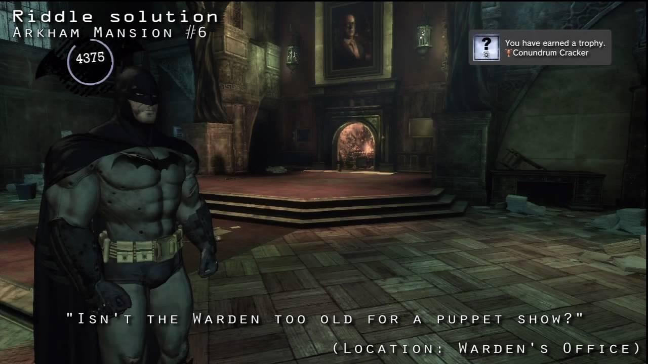 Arkham Mansion Riddles - Batman: Arkham Asylum ... - ign.com