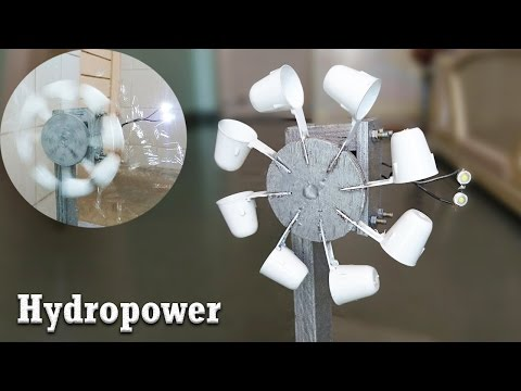 How to Generate Electricity from Water flow || Hydropower