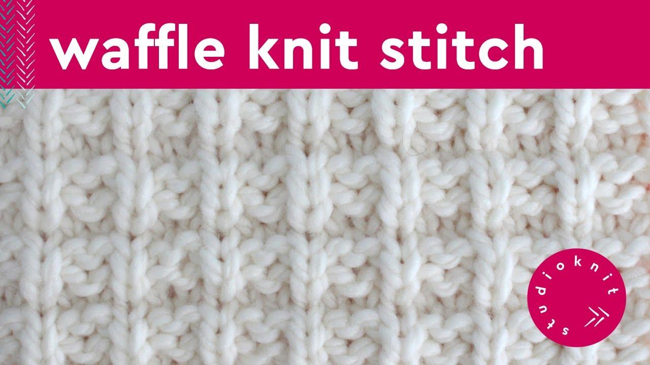 WAFFLE STITCH Knit Stitch Pattern