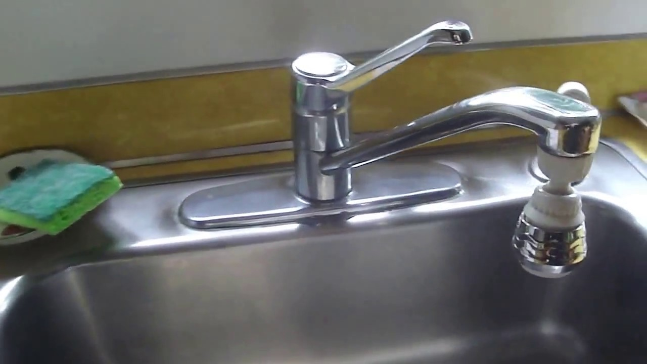 Pfister Kitchen Faucet Repair Repairing A Leaky Price Pfister Kitchen Faucet Youtube
