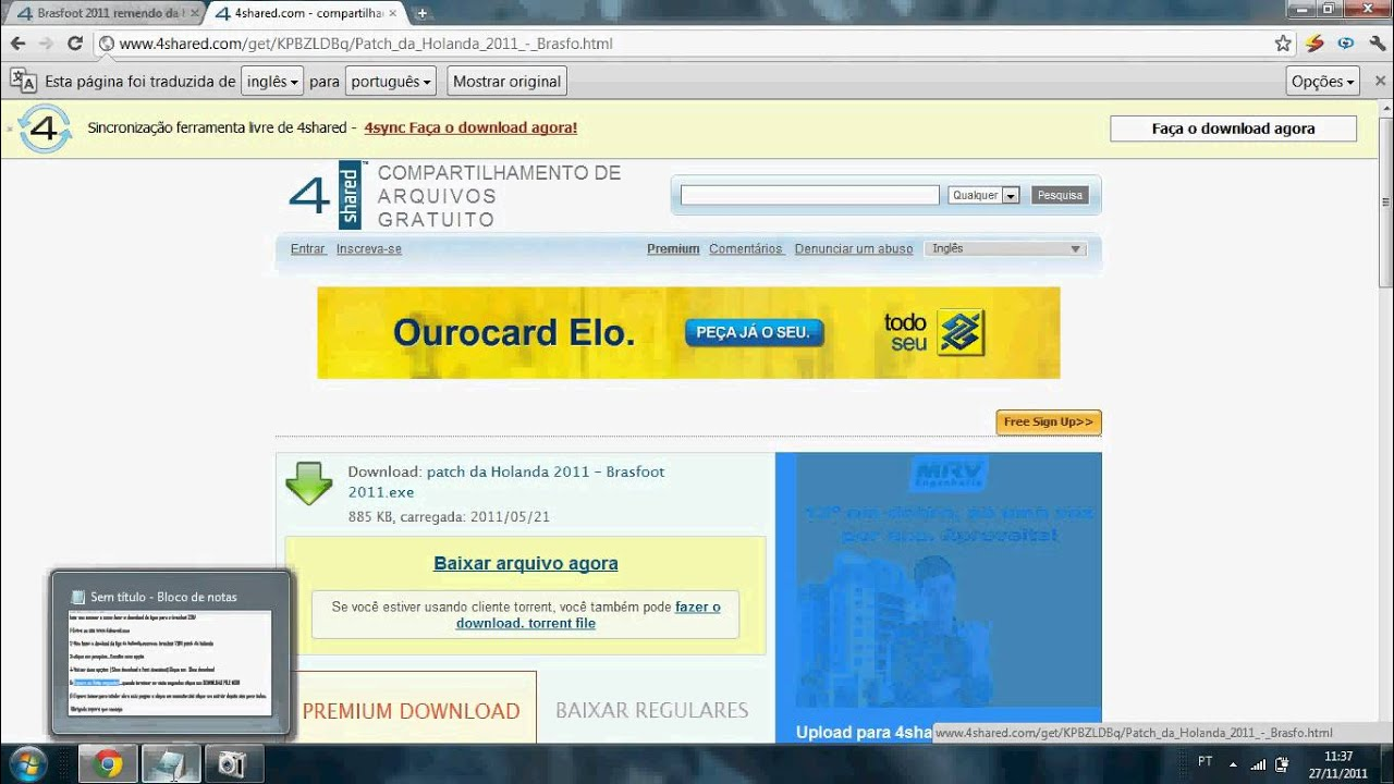 o brasfoot gratis 2011
