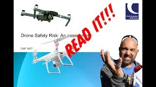 Every UK Drone Flyer needs to read CAA CAP1627 on drone safety risk