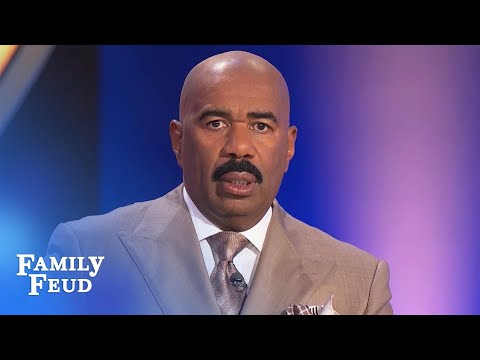 You're saying that to Steve's FACE? | Family Feud