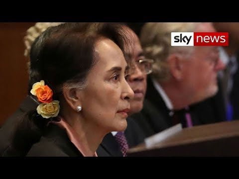 Myanmar:  Aung San Suu Kyi appears at genocide hearing