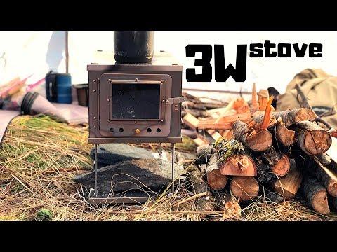 COLLAPSIBLE TITANIUM STOVE: 3W Folding Wood Stove