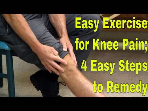 Easy Exercise for Knee Pain; 4 Easy Steps to Remedy