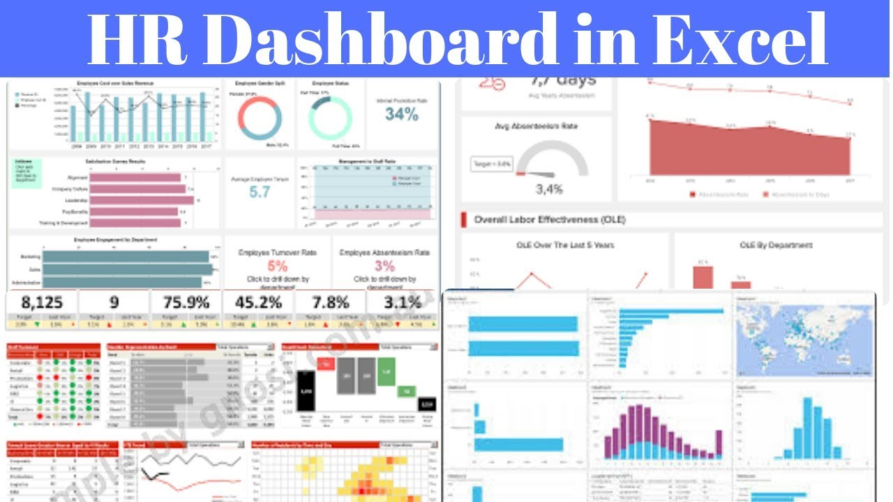 Download free hr metrics templates in excel. Make Hr Dashboard In Excel Youtube