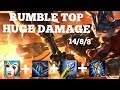 ARCANE COMET RUMBLE TOP LANE BUILD HUGE DAMAGE! Full League Of Legends Gameplay!