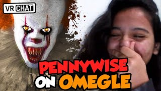 SCARING GIRLS AS PENNYWISE IN VR!!! (OMEGLE VOICE TROLLING IN VR!)