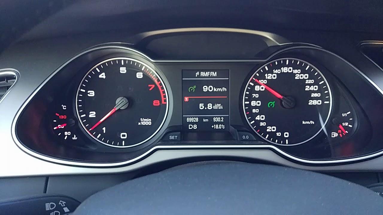 Spalanie Audi A4 Quattro B8 20 Tfsi 224 Hp 8 Gear Tiptronic 90 Kmh