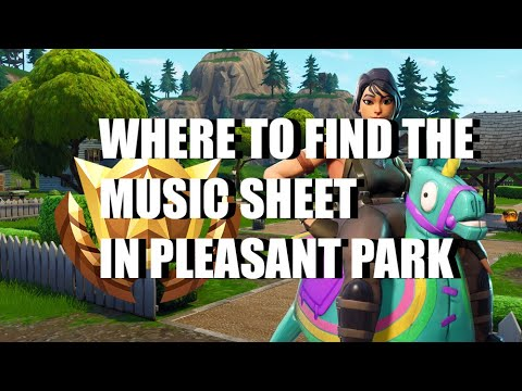 Fortnite Guide Where To Find A Stand With Sheet Music On