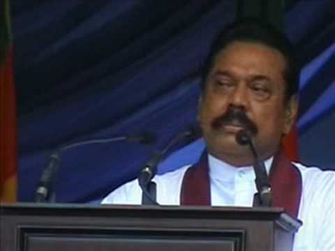 MAHINDA RAJAPAKSE BLAME ON TAMIL AS DEMALA.flv