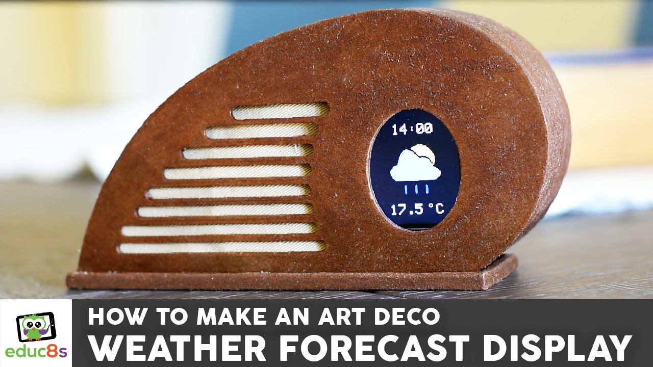 ESP8266 Weather Display using a Wemos D1 mini and and Art Deco Style  enclosure