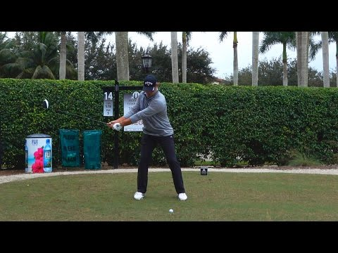 GARY WOODLAND 120fps DRIVER FACE-ON SLOW MOTION & REGULAR GOLF SWING - 1080p HD