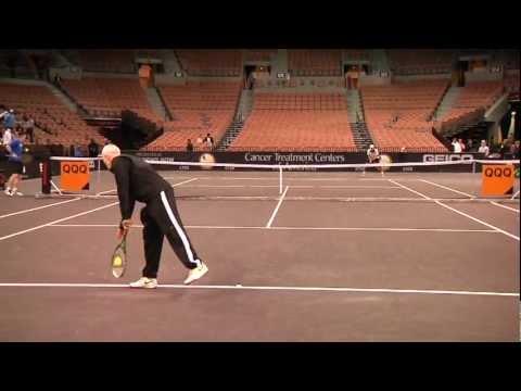 John McEnroe & Thomas Shubert Practice PowerShares Series