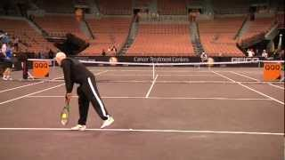 John McEnroe & Thomas Shubert Practice PowerShares Series