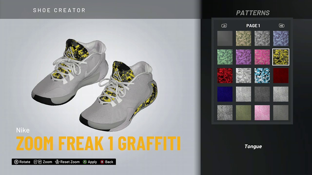 NBA 2K20 Shoe Creator - Nike Zoom Freak
