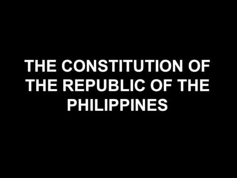 PHILIPPINE CONSTITUTION: ARTICLE III Bill of Rights