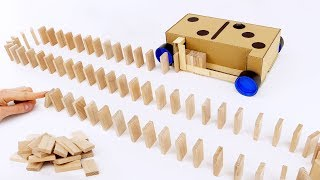 How to Make Domino Row Building Machine from Cardboard