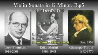"""Tartini: Violin Sonata """"The Devil's Trill"""", Morini & Pommers (1956) タルティーニ 悪魔のトリル モリーニ"""