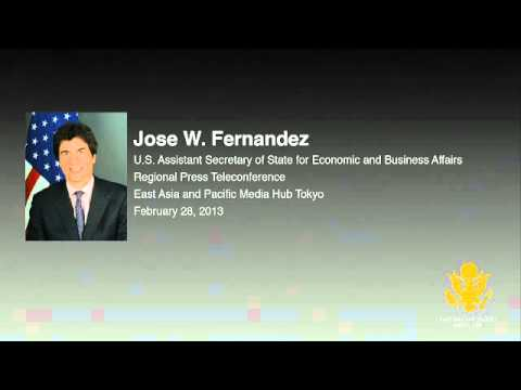Regional Telephone Conference with U.S. Assistant Secretary of State Jose Fermandez
