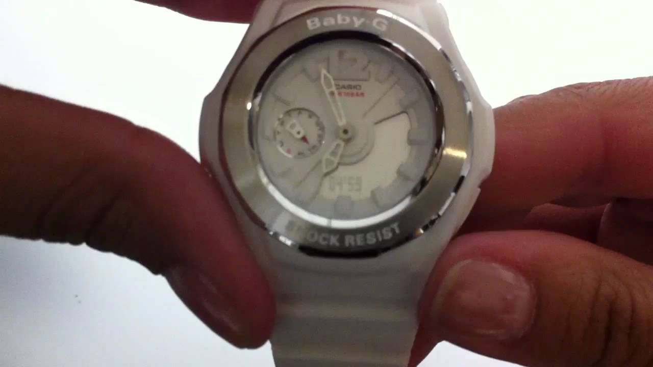White Casio Baby G Analog Digital Watch Bga140 7b Youtube Bga 150ef