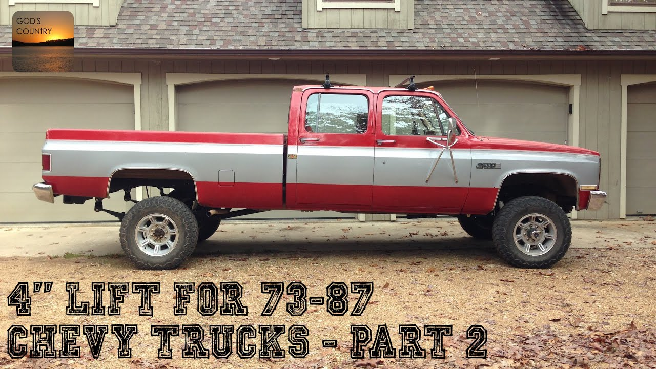 1973 1987 Red Chevy Trucks