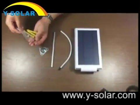 Quick Install Y-SOLAR SL1-1-24 24LEDs Super Bright Solar Powered Light For Yard Garden