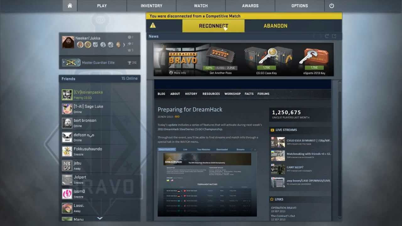 cs go matchmaking down 2017-1-2  hltvorg is the leading csgo site in the world steam is ok but csgo matchmaking dont work still gone cs:go is gone down.