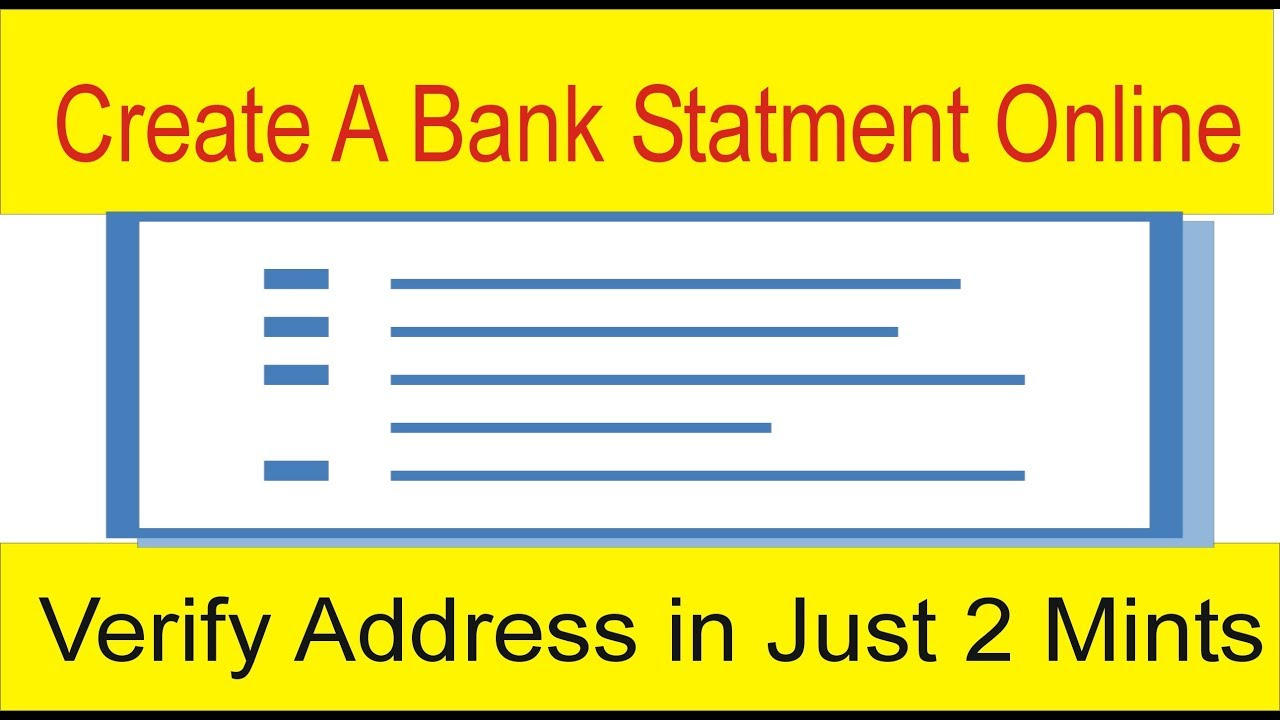 Online Address Verification In Just 2 Mints Fake Bank Account Statement Free By Tani Forex