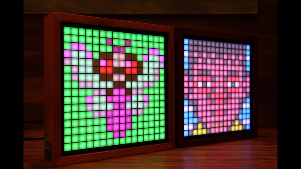Game frame led bit pixel art graphics display youtube