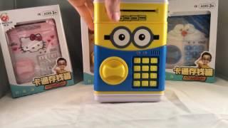 Скарбничка сейф для дітей Deposit Box Міньйон Покемон