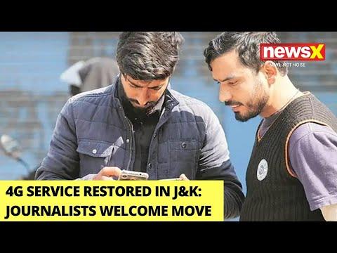 4G services restored in Kashmir   Kashmir journalist welcomes move   NewsX