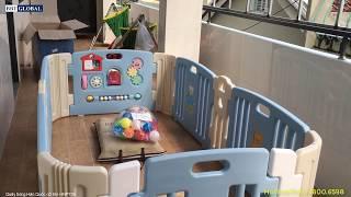 REVIEW Quây bóng nhựa cho bé Hàn Quốc có đồ chơi HNP736