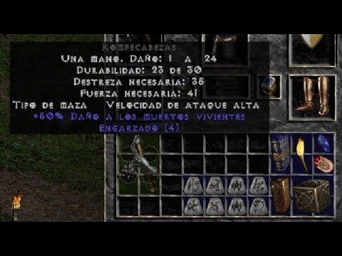 Diablo 2 Esp 😈 Creando Un Arma Corazón De Roble (Hoto) Y Una Armadura Piedra (Stone)