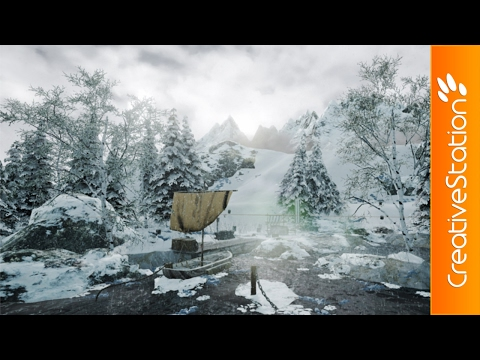 Winter Camp - 3D Speed art (#Unreal Engine)   CreativeStation