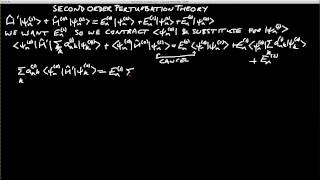 Second order perturbation theory  (PHAS3226 Video 21)